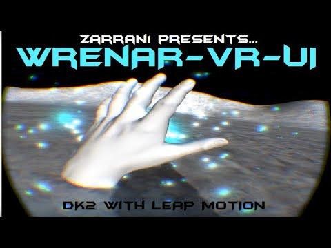 Oculus Rift DK2 with Leap Motion: WrenAR-VR-UI