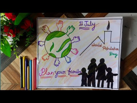 How to make  world  population  day drawing//world  population  day/