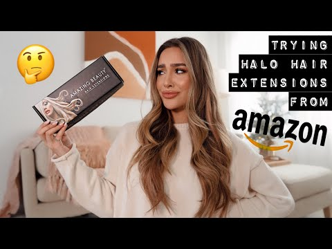 HALO HAIR EXTENSIONS I ORDERED ON AMAZON! // They WORKED!!