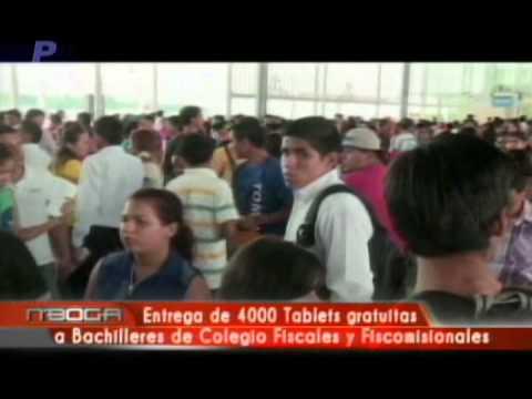 Entrega de 4000 tablets gratuitas a bachilleres de colegio fiscales y fiscomisionales