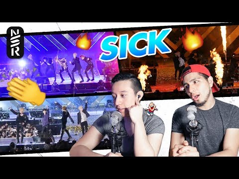 GUYS REACT TO BTS 'MIC DROP + FIRE + SPRING DAY' LIVE (Lotte Family Concert 2018)