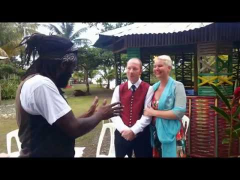 Proper King freestyling for his friends on their wedding day at Likkle Portie