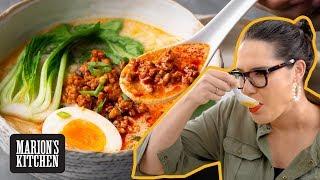 The homemade ramen that DOESN'T take hours | Japanese Tantanmen Ramen | Marion's Kitchen screenshot 3