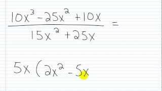 Algebra I Help: Sİmplifying Rational Expressions Part III