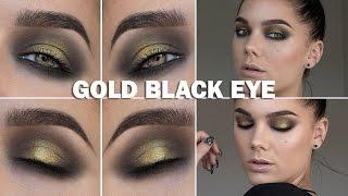Gold Black Eye (with subs) - Linda Hallberg Makeup Tutorials Thumbnail