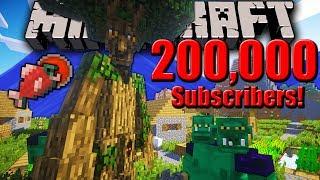 Minecraft LIVE: 200k Sub Stream! Hardcore Survival, Mo