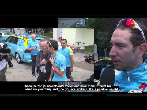 Interviews with the team Astana during the Tour de France