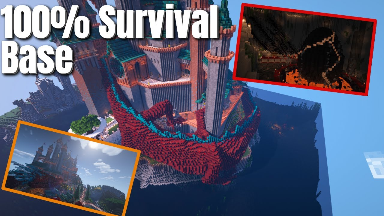 Is this the most EPIC Minecraft Survival Base EVER? Built solo by just one person! Amazing Detail!