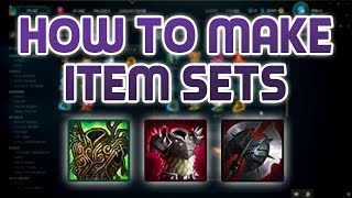 How to get items sets for league of legends championify get