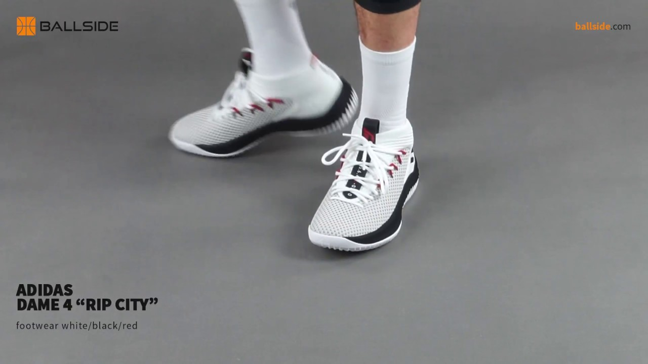 adidas Dame 4 Rip City on feet - YouTube aaf154f046cb