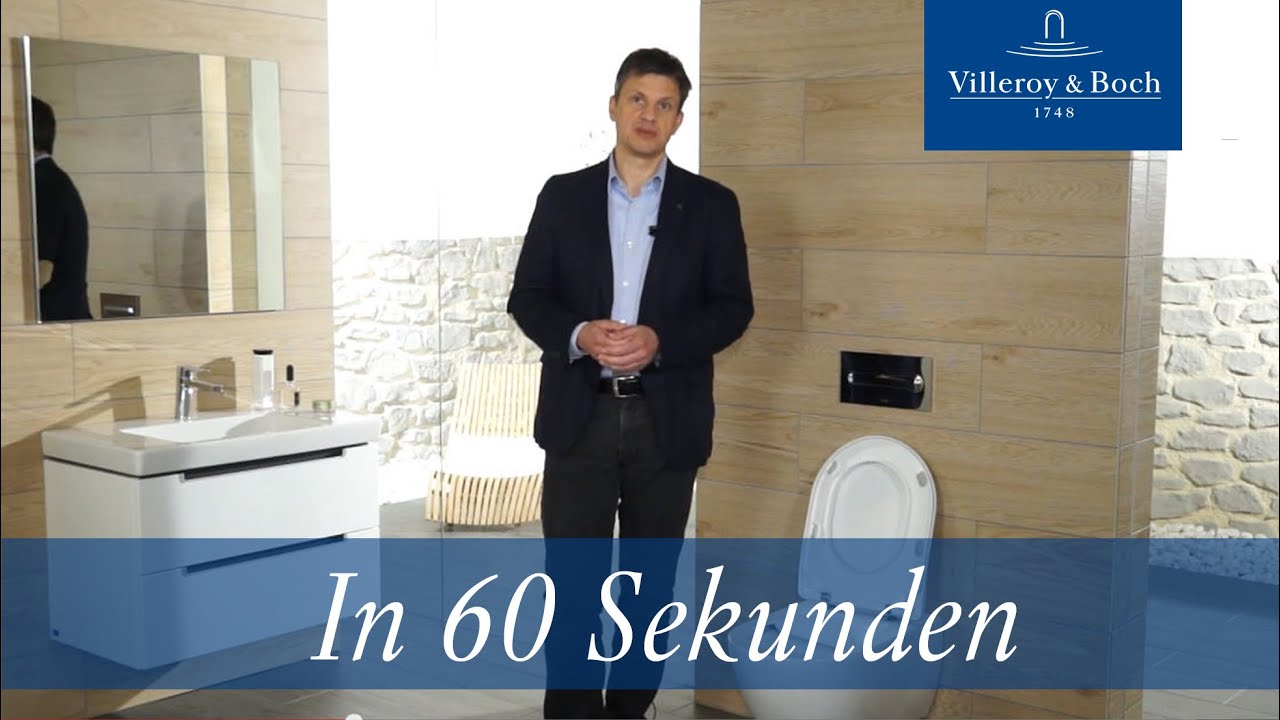 in 60 sekunden directflush sp lrandloses wc villeroy boch youtube. Black Bedroom Furniture Sets. Home Design Ideas