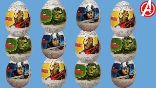 Kinder Avengers Surprise Eggs Unboxing 6 Eggs Kinder Сюрприз Месники Яйця Розпакування 6 Яйця