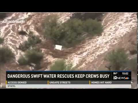 Arizona Flooding RESCUES Monsoon Rapid Storms Rescues Fast Flooding Storms Danger