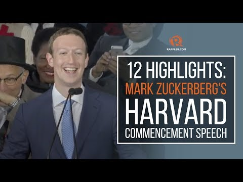 12 highlights: Mark Zuckerberg's Harvard commencement speech