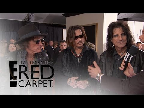 Johnny Depp Rolls With Super Group to 2016 Grammys | Live from the Red Carpet | E! News