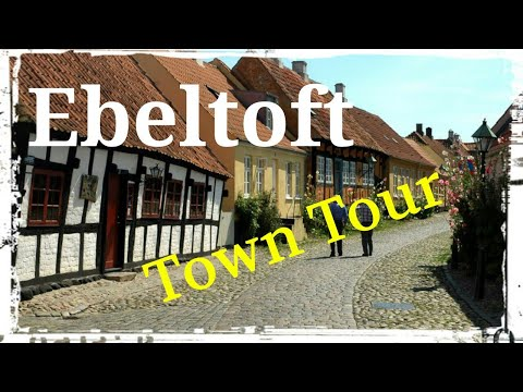 Ebeltoft, Djursland, Denmark (Town Tour) walking and cycling.. GoPro