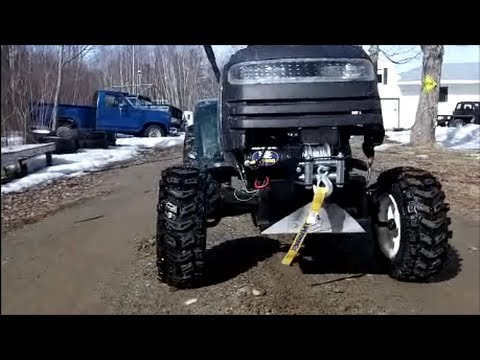 Mud Mower Put To Work Hauling Trees Youtube