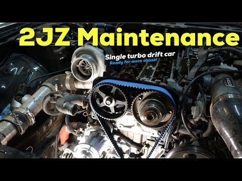 Single Turbo 2JZ s14 Drift Car, Pre Season Maintenance!