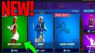 The NEW MATCH POINT SKIN in FORTNITE....
