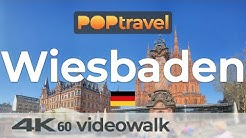 Walking in WIESBADEN / Germany - 4K 60fps (UHD)