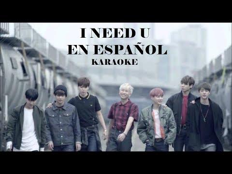 I Need U  - BTS (Karaoke sub español - Instrumental)