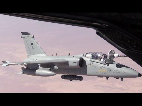 Air Refuel U.S. F-18s & Italian AMX Fighter-Bombers
