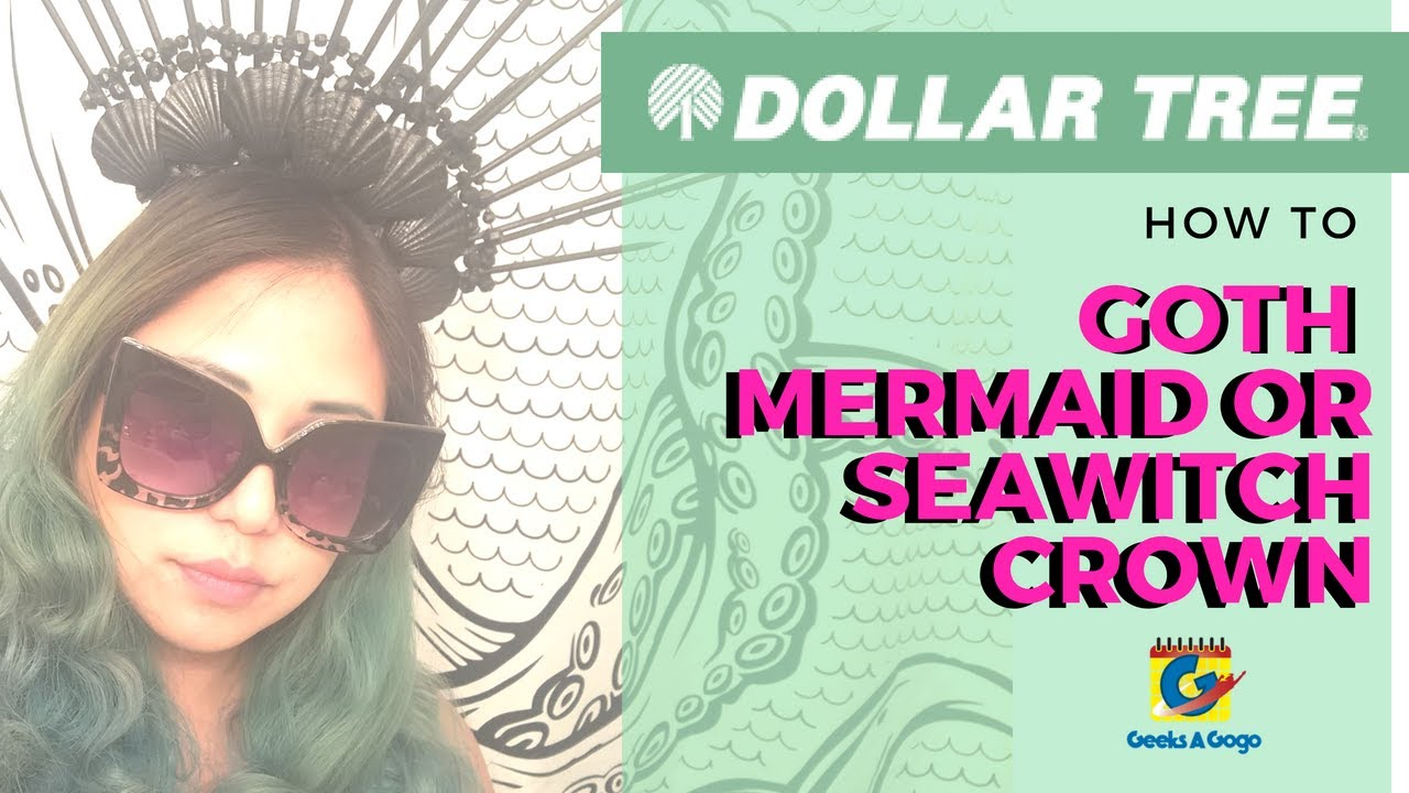 LESS THAN $10 Sea Witch Crown - Dollar Store DIY - YouTube