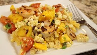 Grilled Shrimp With Mango Rice And Salsa By Rockin Robin