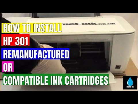 Installing HP 301 re-manufactured or compatible ink cartridges