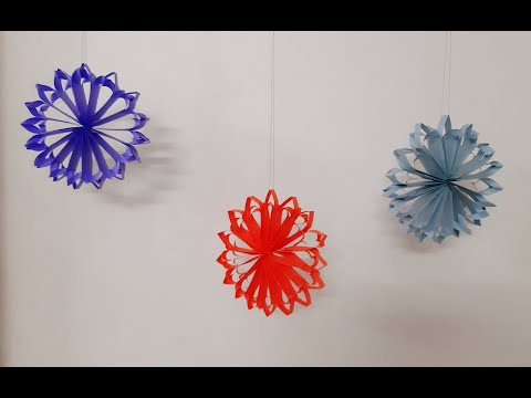 Easy DIY paper snow flakes | Paper craft | Paper Decoration | Buddy's Art
