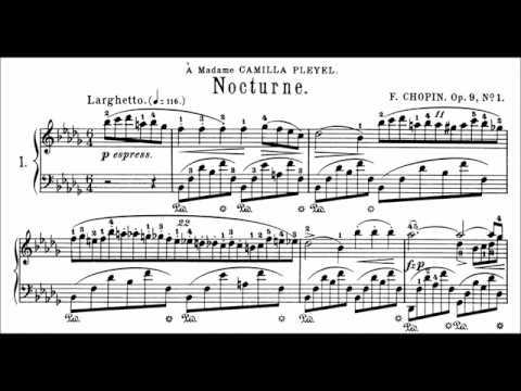 Chopin: Nocturne Op.9 No.1 in Bb Minor (Moravec)