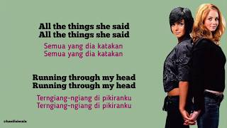 Lyrics indonesiaall the things she saidall saidrunning through my headall headthi...