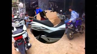 HONDA PCX 150CC MODIFIED IN KAMPOT CITY OF CAMBODIA