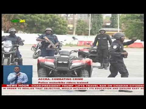Accra: Ghana Police service launches motorbike patrols to combat crime in the country