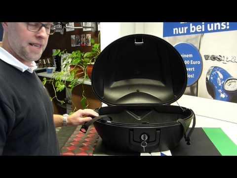 Piaggo MP3 Topcase Koffer 48 Liter 125 / 250 / 300 LT / 400 LT Deutsch Test - Piaggio-Vespa.de