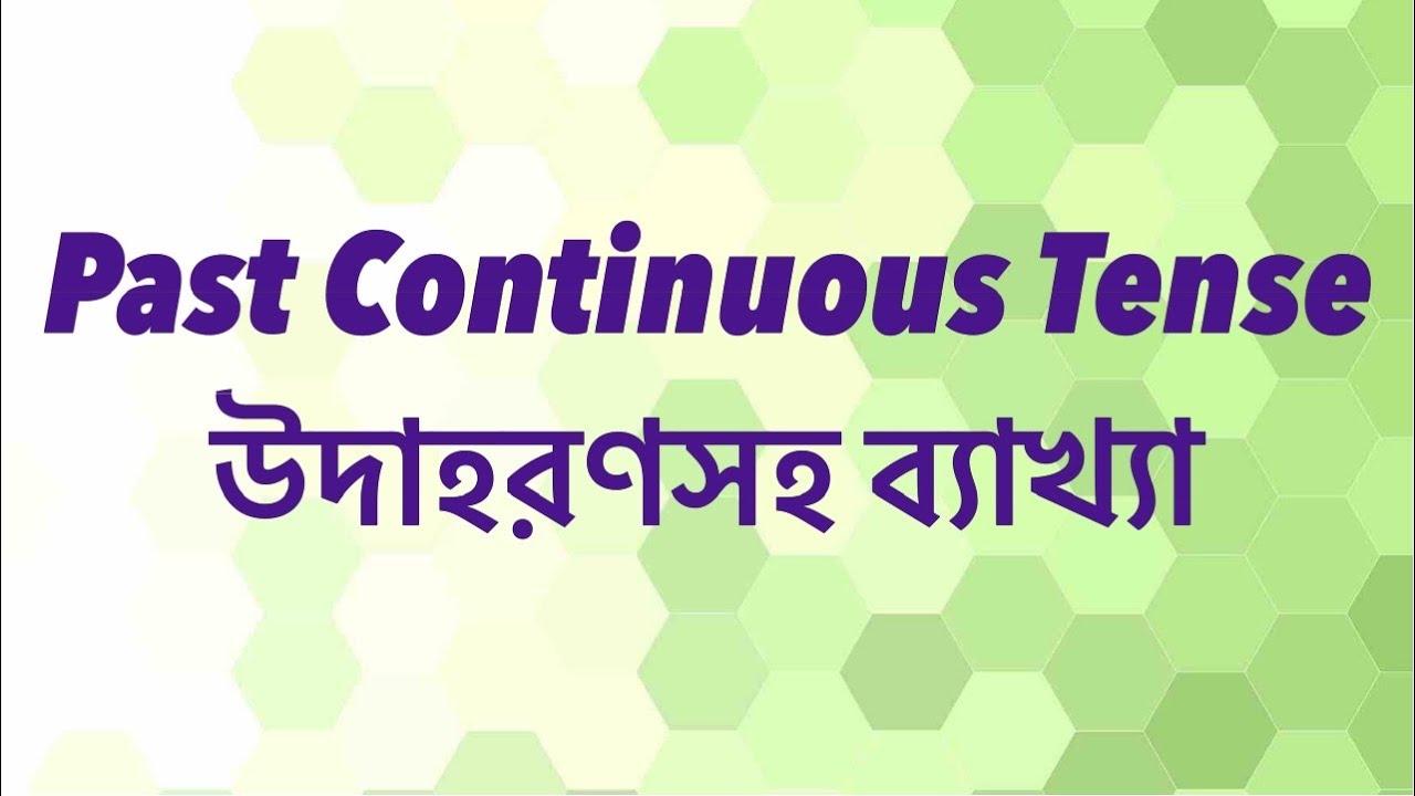 Past Continuous Tense in Bangla, Bangla to English