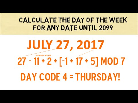 Date to day of week