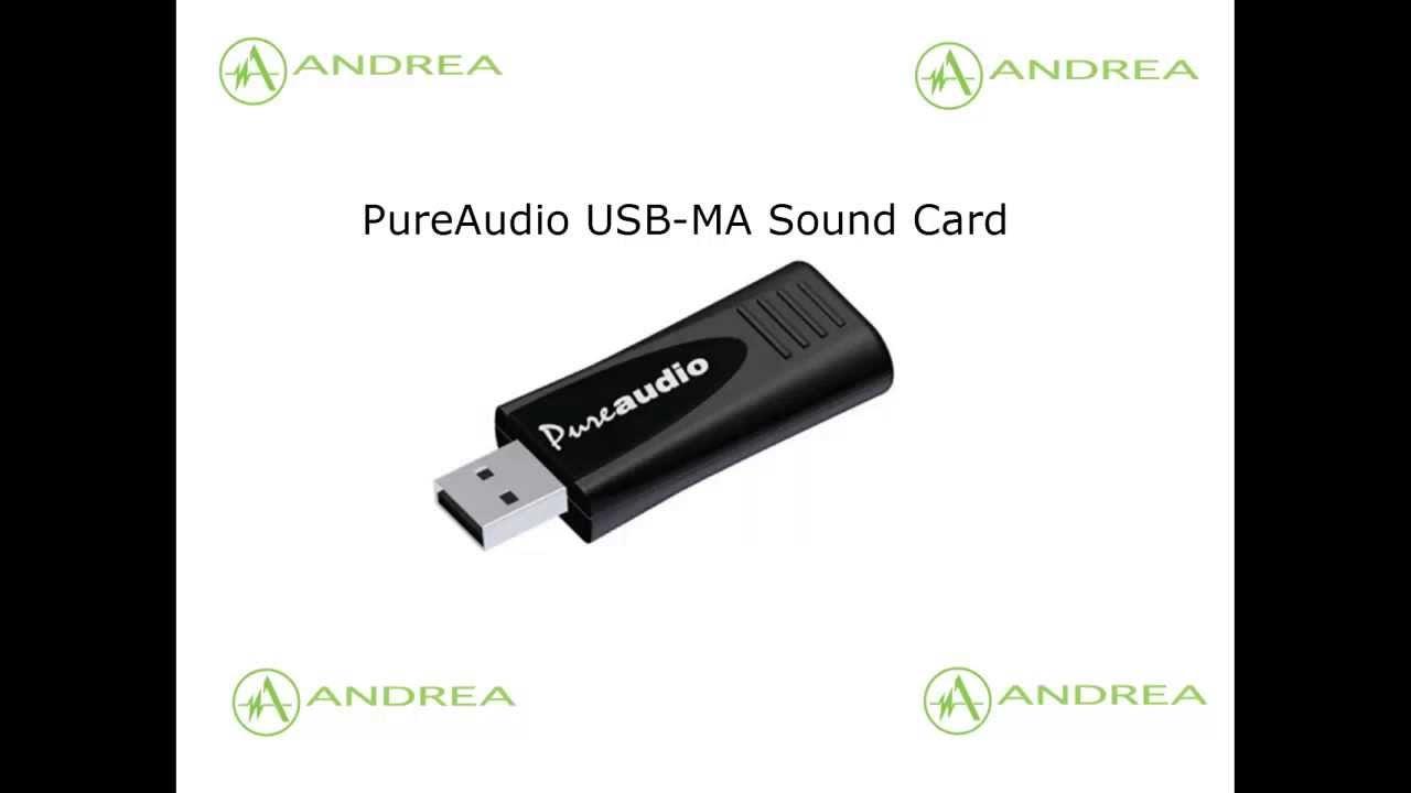 ANDREA PUREAUDIO USB-MA DRIVER FOR WINDOWS 10