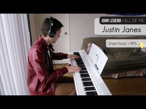 John Legend - All of Me [Piano Cover + Sheet Music]