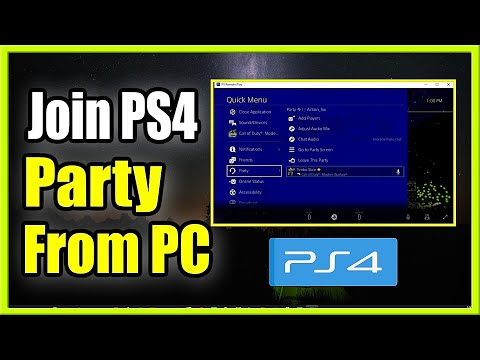 How to JOIN a PS4 Party Chat from your PC (Computer Tutorial)