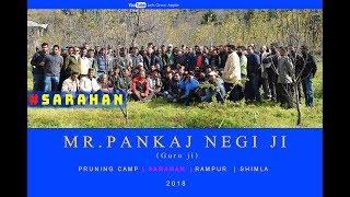 2018 | Mr. Pankaj Negi ji | Pruning Camp | SARAHAN | Rampur  | Shimla