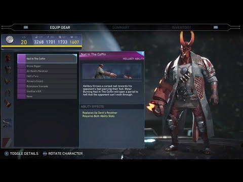 Injustice 2 - Hellboy  All Unlockable Abilities