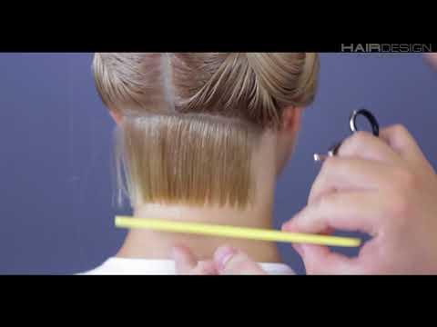 Стрижка боб на средние волосы видеоурок