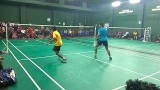 Praveen and Surya vs Sunil gladson and Raghavan mensdouble finalAmbedkar badminton association 2016