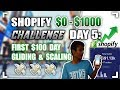 $0 To $1000 7 DAY SHOPIFY CHALLENGE - DAY 5 PRODUCT TESTING RESULTS PLUS SCALING & ORDER FULFILLMENT