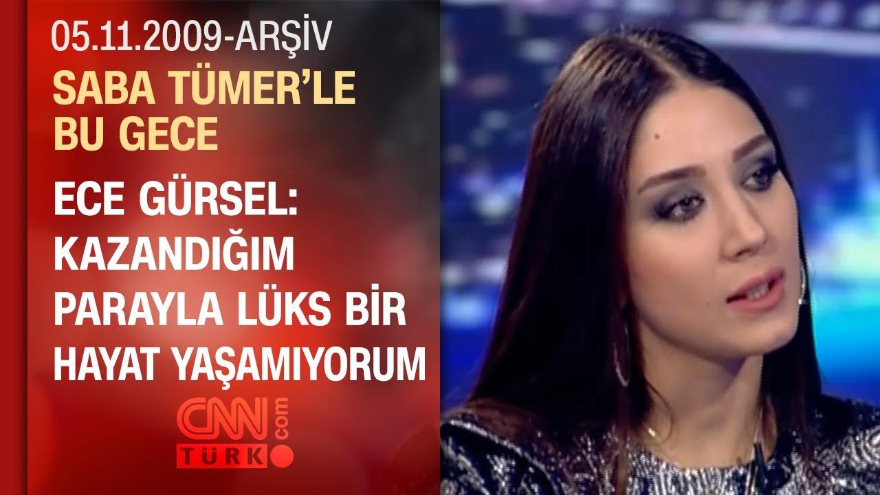 Ece Gürsel: Hüsnü Şenlendirici'ye selam bile vermem - Saba Tümer'le Bu Gece - 05.11.2009