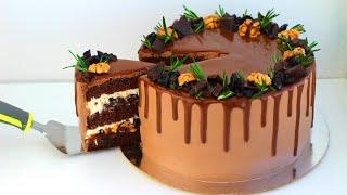 ПП торт с черносливом и грецким орехом ПП рецепты БЕЗ САХАРА