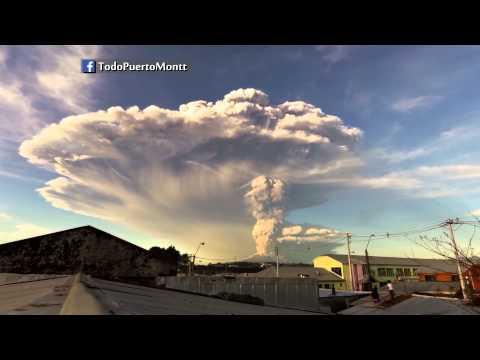 Erupción Volcán Calbuco Chile + Timelapse HD (22-04-2015)