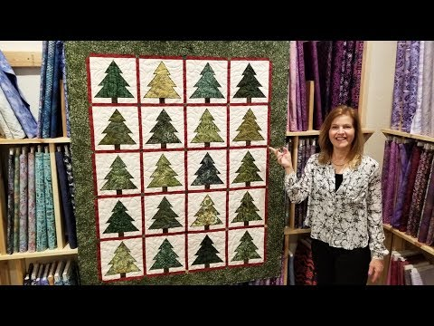 Christmas in July!? Ponderosa Pines Quilt Full tutorial + Quilt Giveaway!