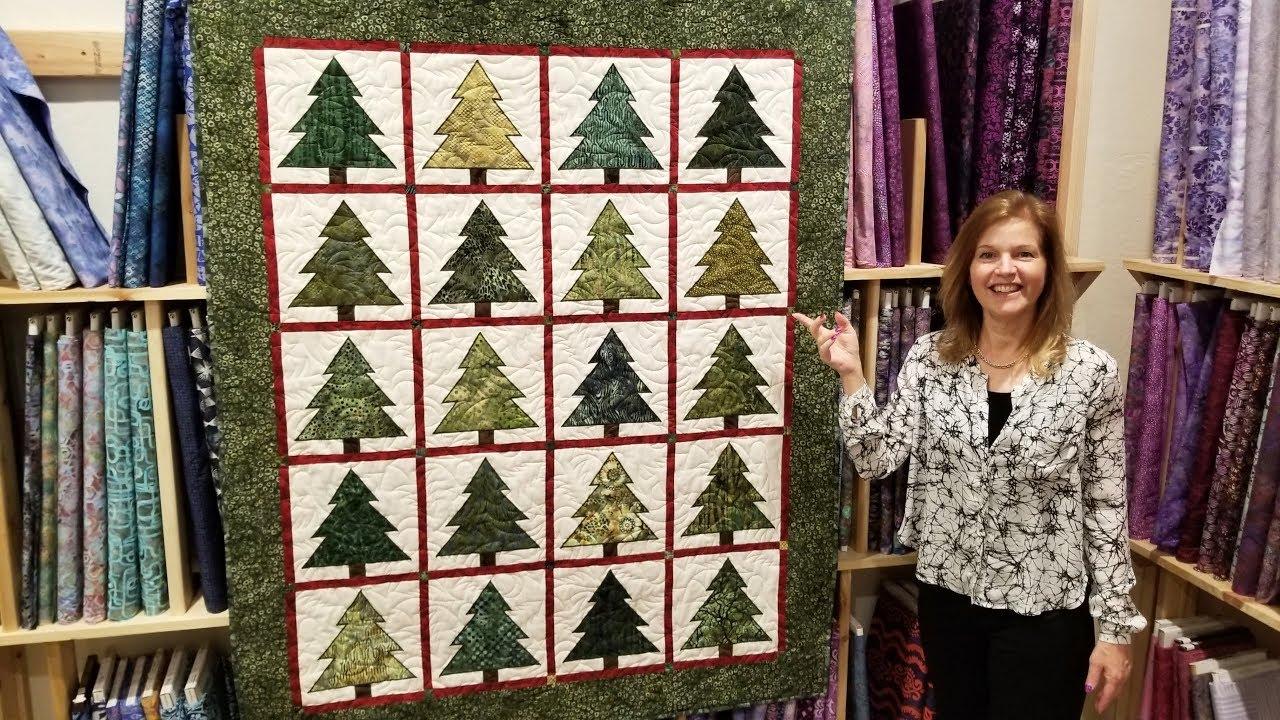 Christmas In July Ponderosa Pines Quilt Full Tutorial Youtube